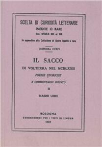 Libro Il sacco di Volterra nel 1462 (rist. anast.)