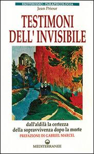 Libro Testimoni dell'invisibile Jean Prieur