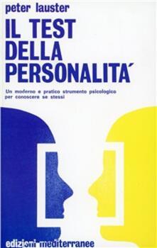 Il test della personalità - Peter Lauster - copertina