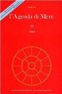 L' agenda di Mère. Vol. 6 - Satprem - copertina