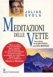 Libro Meditazioni delle vette Julius Evola