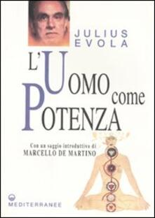 L' uomo come potenza - Julius Evola - copertina