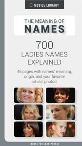 Meaning of Ladies Names