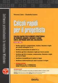 Antondemarirreguera.es Calcoli rapidi per il progettista. Con software. Vol. 1 Image