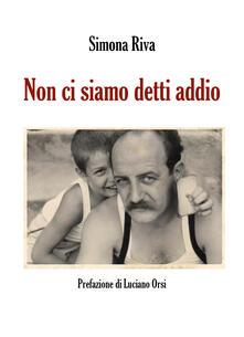 Non ci siamo detti addio - Simona Riva - copertina
