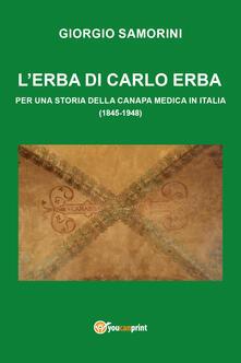 L' erba di Carlo Erba - Giorgio Samorini - copertina