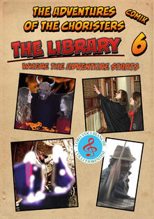 The library. The adventures of the choristers. Comik - Fernando Guerrieri - copertina