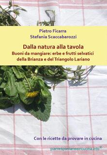 Dalla natura alla tavola. Buoni da mangiare: erbe e frutti selvatici della Brianza e del Triangolo Lariano - Stefania Scaccabarozzi,Pietro Ficarra - copertina