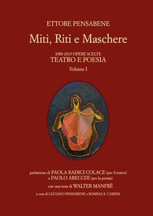 Miti, riti e maschere - Ettore Pensabene - copertina