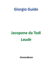 Jacopone da Todi. Laude - Giorgio Guido - copertina