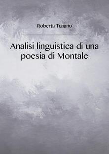 Winniearcher.com Analisi linguistica di una poesia di Montale Image