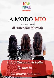 A modo mio - Antonella Morreale - copertina