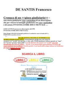 Cronaca di un «gioco giudiziario» - Francesco De Santis - copertina