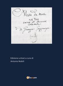 Messa da morto - Antonio Nobili - copertina