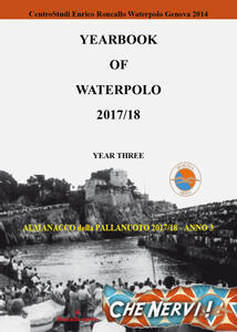 Yearbook of waterpolo. Ediz. italiana. Vol. 3: 2017/2018. - Enrico Roncallo - copertina