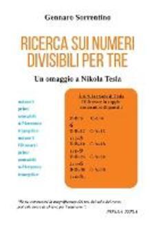 Ricerca sui numeri divisibili per tre - Gennaro Sorrentino - copertina