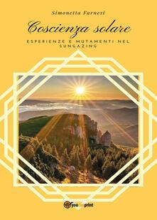 Coscienza solare - Simonetta Farnesi - copertina