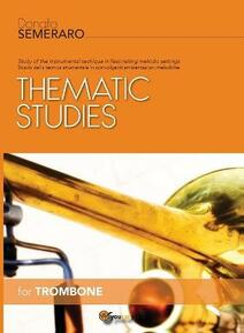 Thematic studies for trombone - Donato Semeraro - copertina