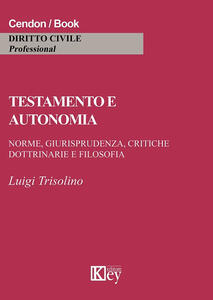 Testamento e autonomia - Luigi Trisolino - copertina