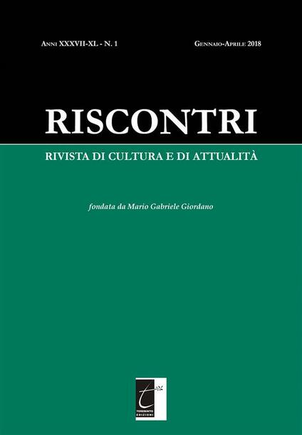 Riscontri. Rivista di cultura e di attualità (2018). Vol. 1 - Riscontri - ebook