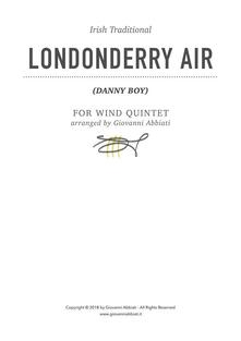Londonderry Air (Danny Boy) (Irish Traditional) for Wind Quintet