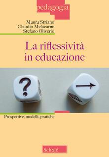 Filippodegasperi.it La riflessività in educazione. Prospettive, modelli, pratiche Image