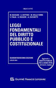 Leggi fondamentali del diritto pubblico e costituzionale - copertina