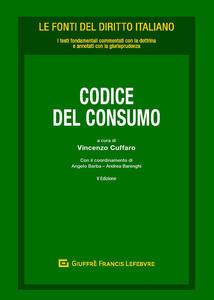 Codice del consumo - copertina