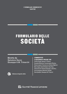 Formulario delle società - Marco Nagar - copertina