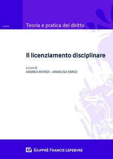 Il licenziamento disciplinare.pdf