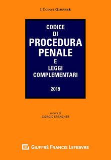 Codice di procedura penale e leggi complementari - copertina