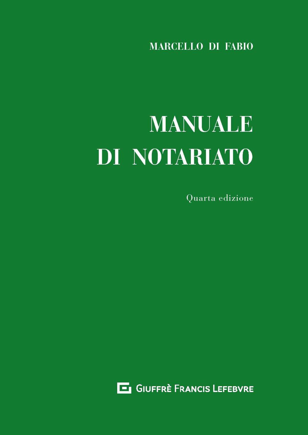 Image of Manuale di notariato