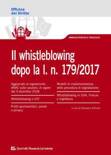 Il whistleblowing dopo la l. n. 179/2017 - copertina
