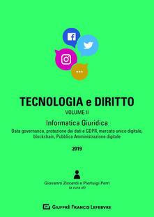 Listadelpopolo.it Tecnologia e diritto. Vol. 2: Informatica giuridica. Image