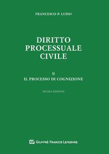 Equilibrifestival.it Diritto processuale civile. Vol. 2: processo di cognizione, Il. Image