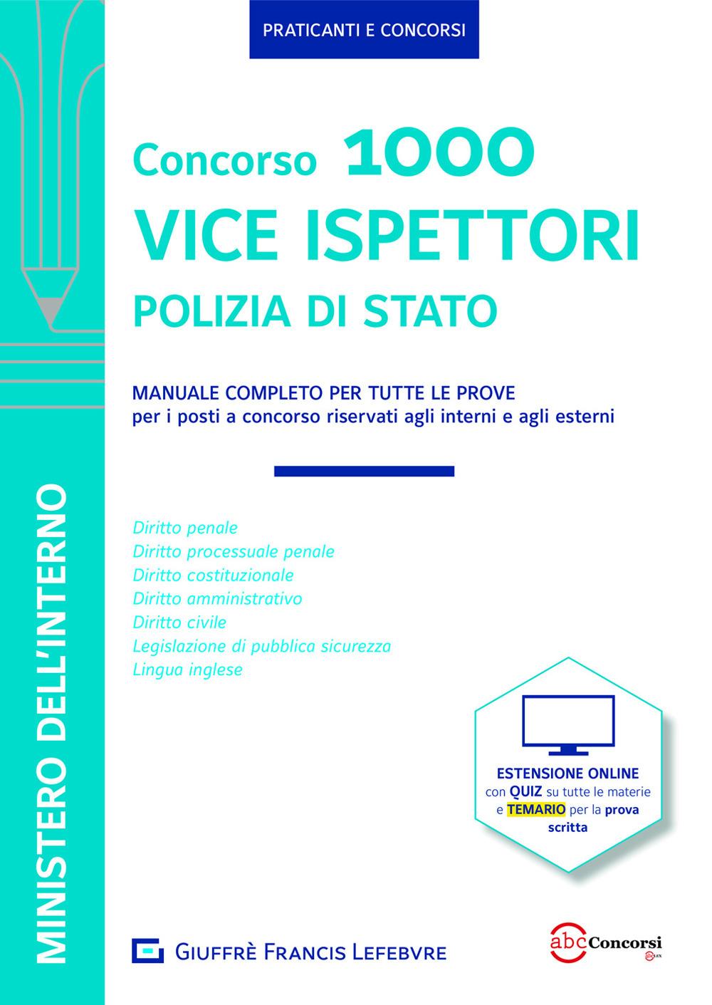 Image of Manuale Vice Ispettori Polizia di Stato. Manuale completo per tutte le prove