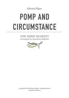 Edward Elgar Pomp and Circumstance for Horn Quartet