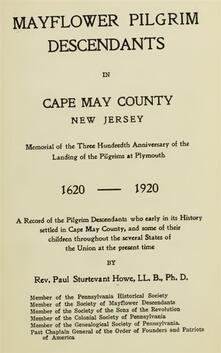 Mayflower Pilgrim Descendants in Cape May County, New Jersey