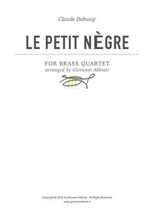 Claude Debussy Le petit nègre for Brass Quartet