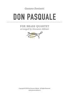 Gaetano Donizetti Don Pasquale for Brass Quartet