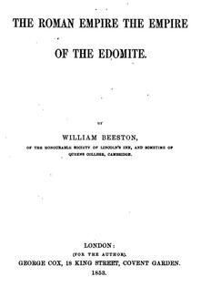 Roman Empire the Empire of the Edomite