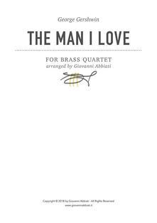 George Gershwin The Man I Love for Brass Quartet