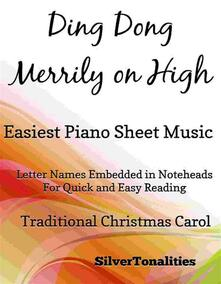 Ding Dong Merrily on High Easiest Piano Sheet Music