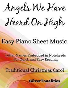 Angels We Have Heard on High Easy Piano Sheet Music