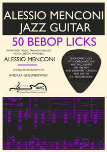 50 bebop licks. Jazz guitar book with free video lessons included - Alessio Menconi - copertina