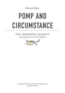 Edward Elgar Pomp and Circumstance for Trombone Quartet