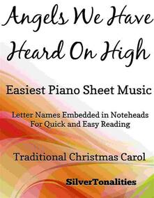Angels We Have Heard On High Easiest Piano Sheet Music