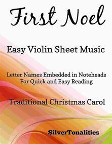 First Noel Easy Violin Sheet Music