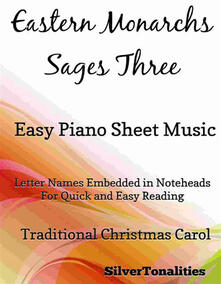 Eastern Monarchs Sages Three Easy Piano Sheet Music