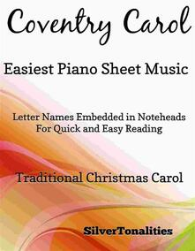 Coventry Carol Easiest Piano Sheet Music